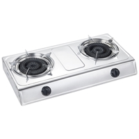 Crown CGS-342IX Gas-Stove 2*Hob Inox