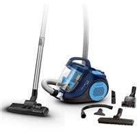 Rowenta RO2981 Cyclonic Bagless Vacuum Cleaner 750W 1.5Ltr A-Rated Highly-Efficient-Filter Black/Blue