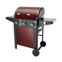 Brinkmann 3*Burner Gas BBQ Maroon/Black including Pipe, Clip & Cover