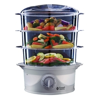 Russell Hobbs Food Steamer 3-Tier 9Ltr White 21140