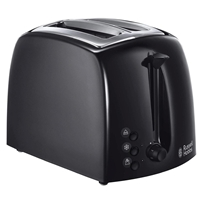 Russell Hobbs 2-Slice Automatic Toaster Textures Black 21641