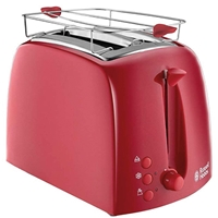 Russell Hobbs Sandwich-Maker Toaster 2*Portion Textures Red 21642