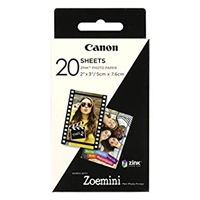 Canon Zoemini Zink Photo Paper, 20 Sheets