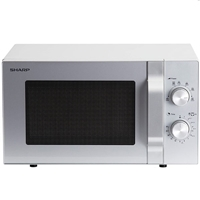 Sharp R204S Microwave Oven 20Ltr 800W Mechanical-Control Silver