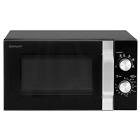 Sharp R204BK Microwave Oven 20Ltr 800W Mechanical-Control Black