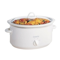 Crock-Pot Round White 3.5L For4 Slow Cooker