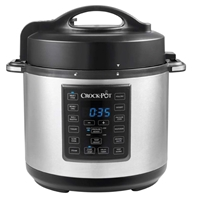 Crock-Pot Express Multi Cooker Black-Silver 5.6L For12 Slow Cooker