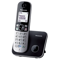 Panasonic KX-TG6811 Cordless Phone w/Handsfree Black