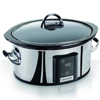 Crock-Pot Oval Digital Black-Silver 5.7L For6 Slow Cooker