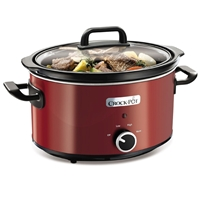 Crock-Pot Round Red 3.5L For4 Slow Cooker