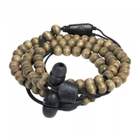 Wraps Wooden Beads In-Ear Headphone with Mic Brown WRAPSWBRN-V15M Simple Product Headphones