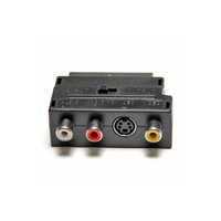 Cable Video - Scart Adapter Scart-M w/In/Out to 3xRCA-F + S-Video-F Nedis 374293-NEVLVP31902