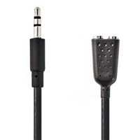 Nedis Cable Audio - Stereo 3.5mm Male TO 2x Stereo-3.5mm-Female 0.2m VLAP22100BK02