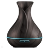 Smart Aroma Diffuser Dark-Brown Compatible with Alexa & Google Home, 7 Mood Light Settings