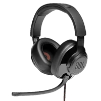 JBL Quantum 300 Wired Gaming Headset Black + USB Audio Adaptor