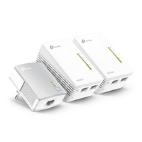 TP-LINK TL-WPA4220 (UK) TKIT Wireless-N AV600 Homeplug Kit Powerline Extender 3-Pack Kit