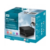 Western Digital Livewire 200Mbps AV200 Homeplug Powerline Kit 8x Port