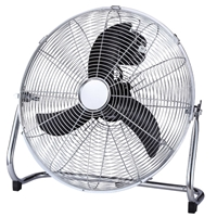 Emerio 40cm Metal-Blades 70W 3-Speed High-Velocity Floor Fan Chrome FN-114355