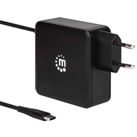 Manhattan Wall-Charger 2-Port Type-C with Cable + 1xUSB-Port 60W 2.4A 180238