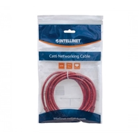 UTP Patch-Lead Cat6 0.5m Red RJ45 Network Cable Intellinet 342131