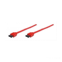 Cable - eSATA I-Type - 1.0mtrs  Round Red Manhattan 374903