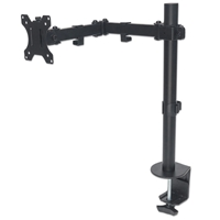 Manhattan 461542 Monitor-Desk-Stand 1*Monitor 2*Arms Desk-Mount Black