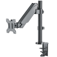 Manhattan 461573 Monitor-Desk-Stand with Gas-Spring-Mechanism 1*Monitors 1*Arms Desk-Mount Black