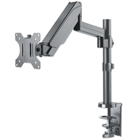 Manhattan 461580 Monitor-Desk-Stand with Gas-Spring-Mechanism 1*Monitors 2*Arms Desk-Mount Black