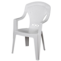 Stresa Resin Arm-Chair for Outdoor Use White (82x58x57cm)