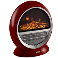 Argo PEPITA RED Electrical Fireplace Heater Ceramic 1500W Anthracite Red (191070165)