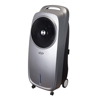 Argo POLIFEMO ION SILVER Evaporating Air Cooler w/Remote In/Out-door Ionisation 7Ltr-Water-Tank Silver
