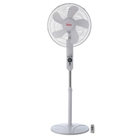 Bimar 40cm Plastic-Blades 50W 3-Speed Round-base Stand-Fan w/Remote VP42T