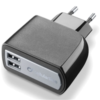 Cellularline ACHUSBDUAL3ATAB 2*Port USB Charger
