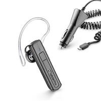 CellularLine Bluetooth Headset BTVOXDRIVEPACKK with Charger-for-Cigaratte-Lighter Dual Phone Black