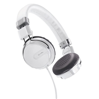 Celly HIPHOP Headphones + Mic Stereo White Foldable