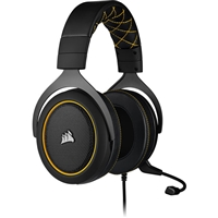 Corsair CA-9011214-EU HS60 Pro Surround Carbon GAMING Headset with Microphone Black/Yellow