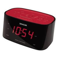 Sencor SRC-180 Radio LED-Display FM Wake-by-Radio Red