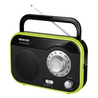 Sencor SRD-210 Portable Radio Analogue Micro AM/FM Black-Green
