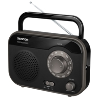 Sencor SRD-210 Portable Radio Analogue Micro AM/FM Black