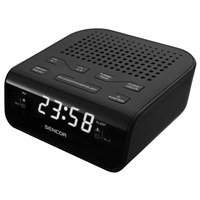 Sencor SRC-136-B Digital Radio Alarm Clock AM/FM Black