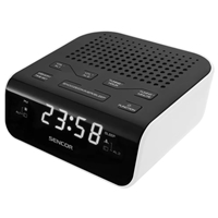 Sencor SRC-136-B Digital Radio Alarm Clock AM/FM White