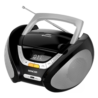 Sencor SPT-2320 Portable Radio with Clock/FM/USB/CD/AUX/Bluetooth Black-Silver