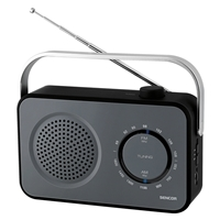 Sencor SRD-2100-B Portable Radio with FM (87.5-108) & Rubberized Surface Black