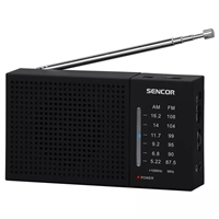 Sencor SRD-1800 Portable Radio AM/FM & Rubberized Surface Black