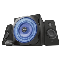 Trust GXT 628 Tytan 2.1 Illuminated 60W-RMS Speaker System with LED Subwoofer
