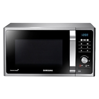 Samsung MS23F301TAS Microwave Oven 23Ltr Silver/Black 800W Digital-Control LED-Display