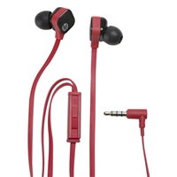 HP H2310 In-Ear Stereo Earphones with Mic Red/Black (J8H45AA)