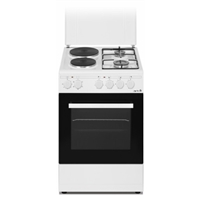 Arielli C-5060/2GFL Electric-Cooker-Oven + 4*Burner (2*Gas+2*Electric) 43Ltr A White (H85xW50xD60 cm)