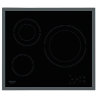 Hotpoint-Ariston HR-603-X Built-in Ceramic Hob Black 3*Burner Touch-Control (5x58x51 cm)