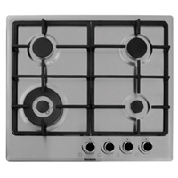 Blomberg GEN53415E Built-in Gas Hob 4*Burner Cast-Iron Silver Knob-Control Wok-Burner